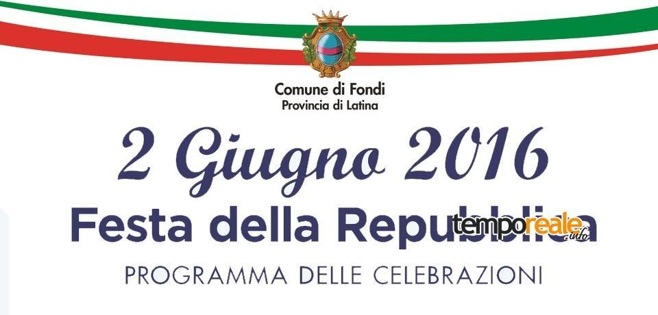 Fondi / Festa della Repubblica: il programma delle celebrazioni