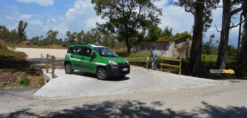 Sabaudia / Corpo Forestale sequestra vasta area per un piazzale abusivo e un ponte in cemento