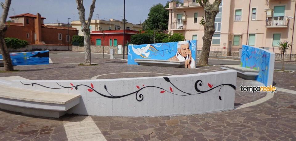 Minturno / Inaugurazione piazza S. Giovanni Paolo II, i ringraziamenti dell'ass. House Hospital Onlus
