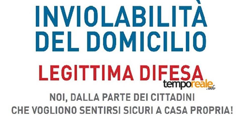 Pontecorvo / Inviolabilità del domicilio e legittima difesa, il sindaco Rotondo invita i cittadini a firmare