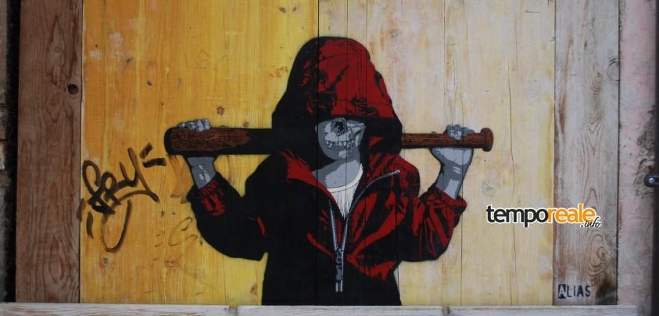 """Fondi / """"Memorie Urbane"""" 2016, gli artisti tedeschi Alias e Kunstrasen in città con la loro street art"""