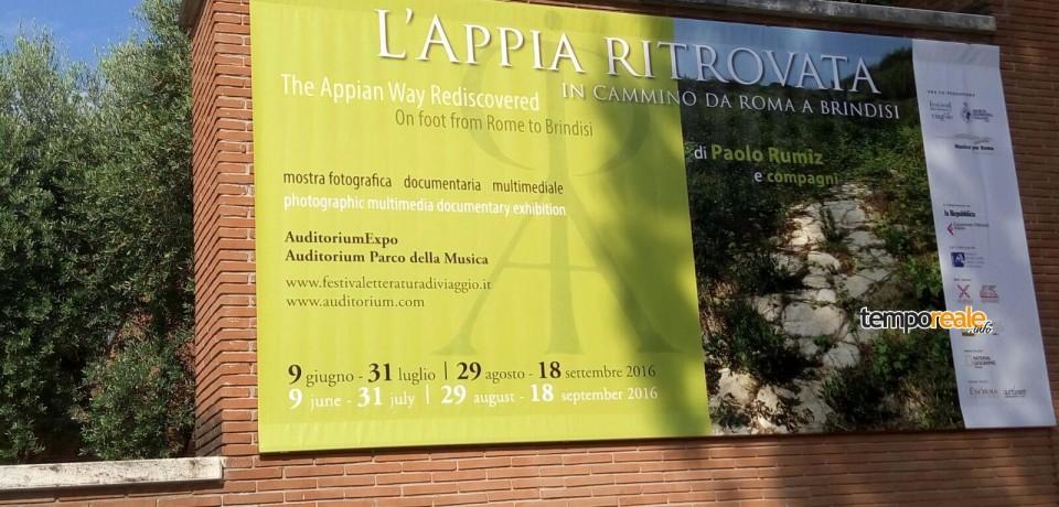 Appia Ritrovata, inaugurata la mostra di Paolo Rumiz sul suo percorso per la Via Francigena
