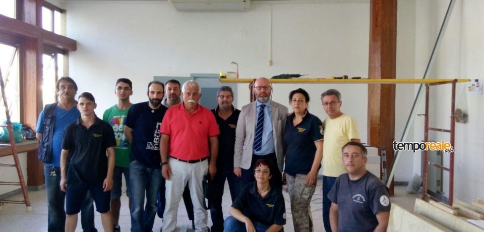 Minturno / Il commissario Strati in visita alla nuova sede della Protezione Civile