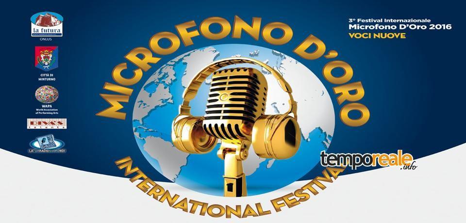 """Minturno / Al via la 3^ edizione del Festival musicale """"Microfono D'Oro"""""""