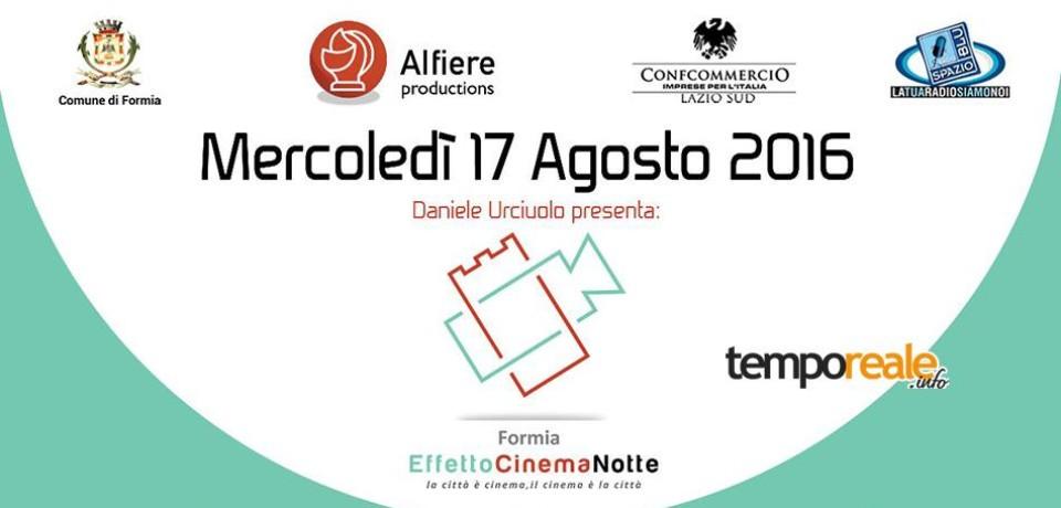"""Formia """"Effetto Cinema Notte"""", la città si trasforma in un set cinematografico notturno"""
