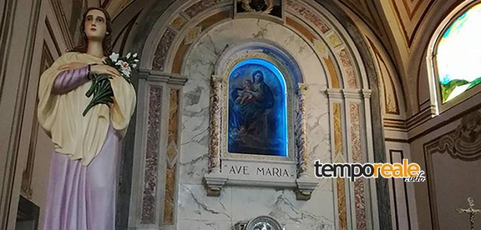 Itri / Dai Padri Passionisti benedetta la nuova statua di Santa Maria Goretti