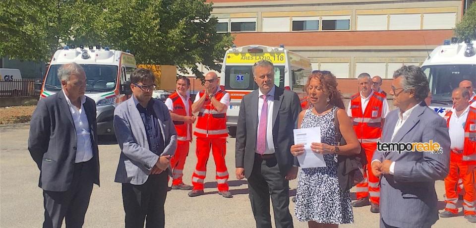 """Latina / Enrico Forte: """"Consegnate al 118 tre nuove ambulanze di ultima generazione"""""""