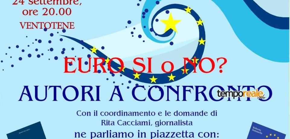 Ventotene / Autori a confronto: Euro sì o No? Incontro con Alberto Lucarelli e Roberto Sommella
