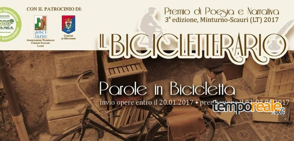 Minturno / Il Bicicletterario, III edizione: aperto il bando del Premio Letterario dedicato alla bicicletta