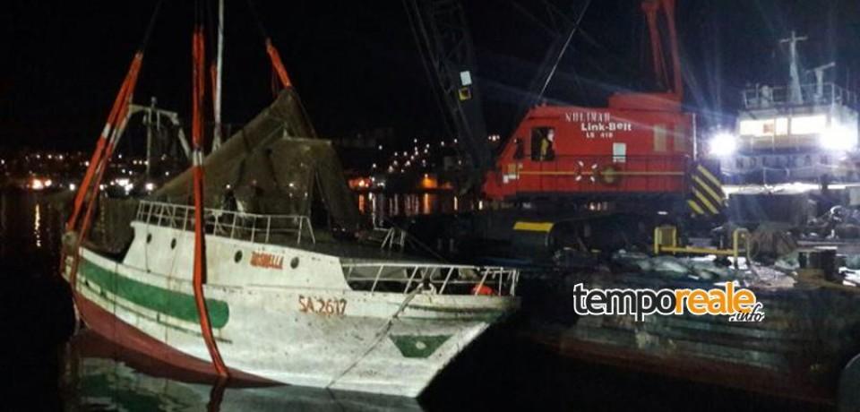 Rosinella, affondamento causato dall'improvvisa rottura di un manicotto del motore
