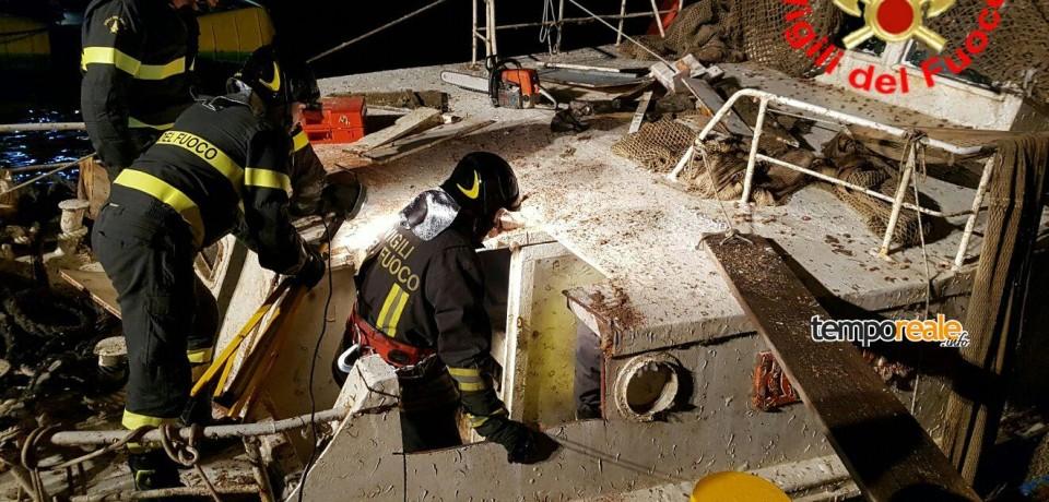 Gaeta / Peschereccio Rosinella, attesa per l'autopsia sul corpo del comandante Giulio Oliviero