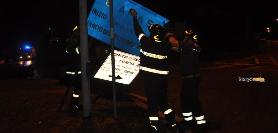 Formia / Maltempo, intervengono i vigili del fuoco (foto)