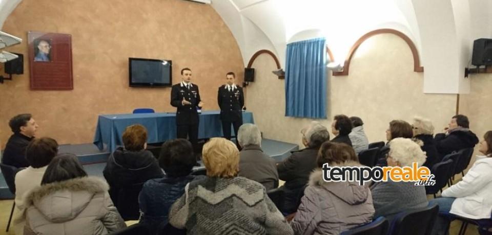 Fondi / Truffe e raggiri, continuano gli incontri dei Carabinieri nei Centri Anziani