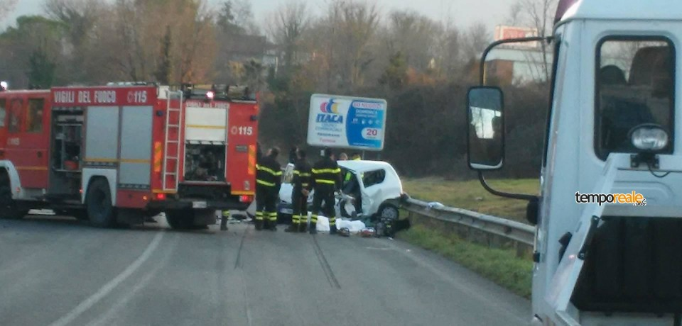Pignataro Intermna / Incidente sulla superstrada Cassino-Formia: un morto e due feriti