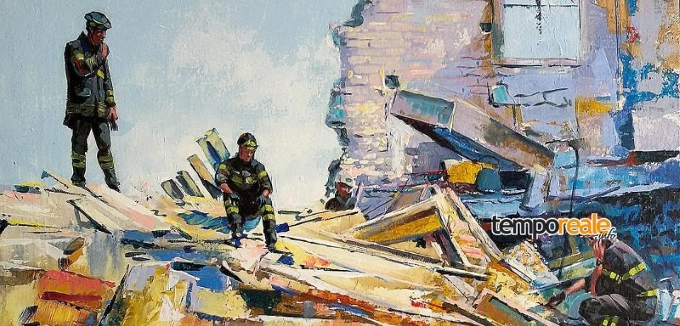 """Formia / """"Artisti in piazza"""" donano le loro opere d'arte ai soccorritori del terremoto"""