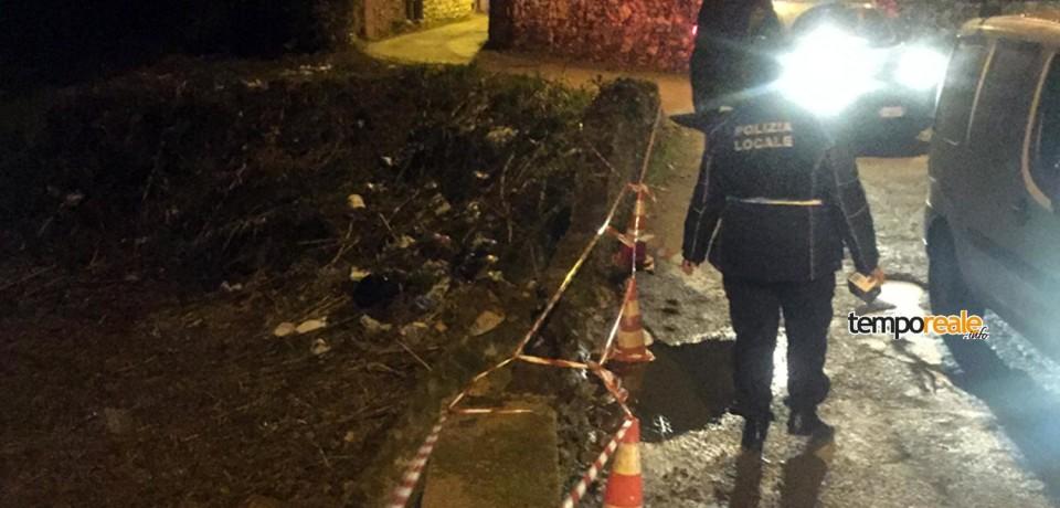 Gaeta / Crollo parziale in Via del Colle: immediato l'intervento dell'Amministrazione