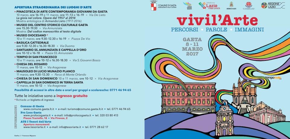 Gaeta / Quinta edizione per Vivil'arte, dall'8 all'11 marzo