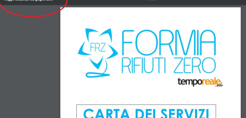 """Formia Rifiuti Zero, il """"copia ed incolla"""" della Carta dei servizi"""
