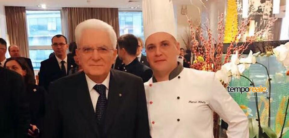 Formia / Il presidente Sergio Mattarella pranza in Cina con i paccheri del pastificio Paone