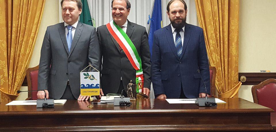 Gaeta / Il sindaco Mitrano incontra il collega di Sestroretsk (Federazione Russa)