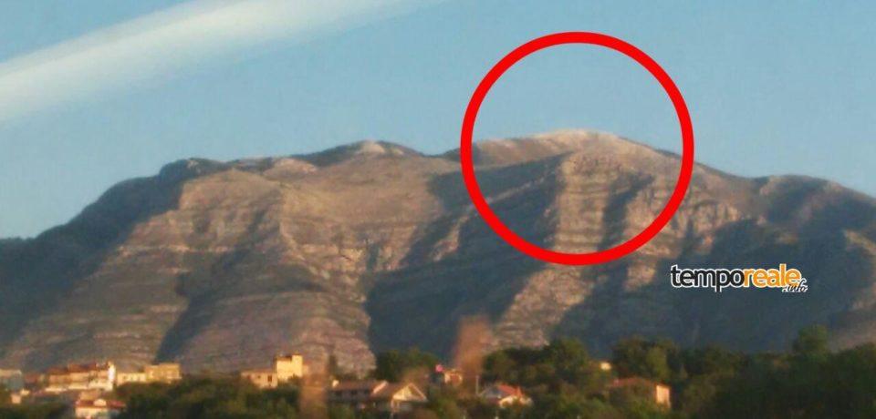 Formia / Spolverata di neve su Monte Petrella