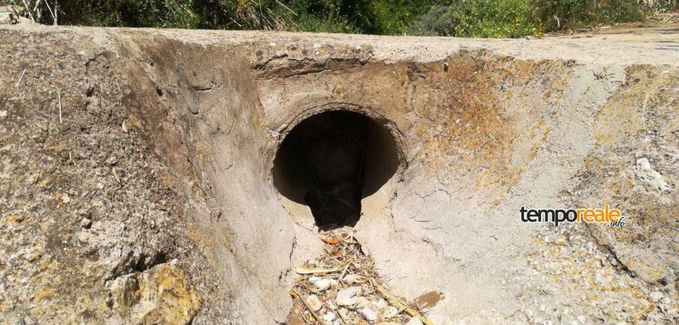 Gaeta / Pericolo pioggia in località Piroli, segnalazione di Casapound
