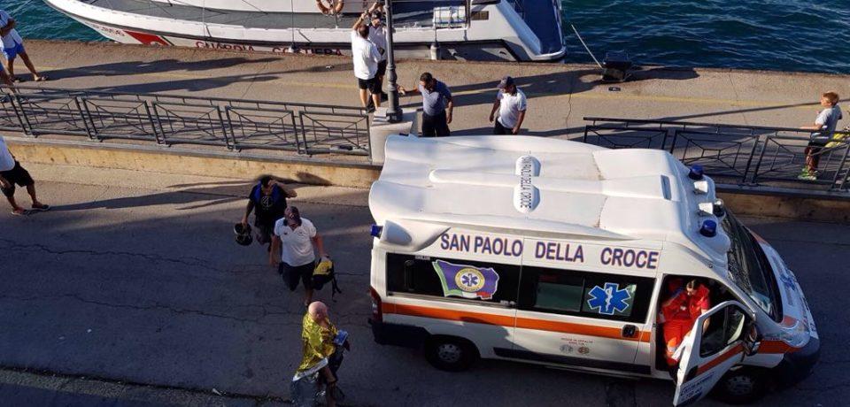 Formia / Cade dalla moto d'acqua, salvato dalla guardia costiera