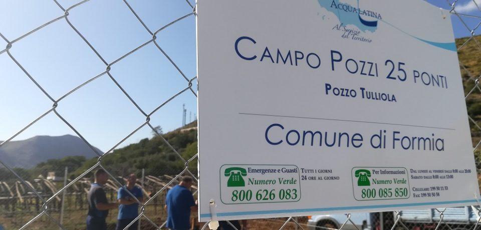 Formia / Proseguono i test sul Pozzo Terenzia presso il campo pozzi 25 Ponti