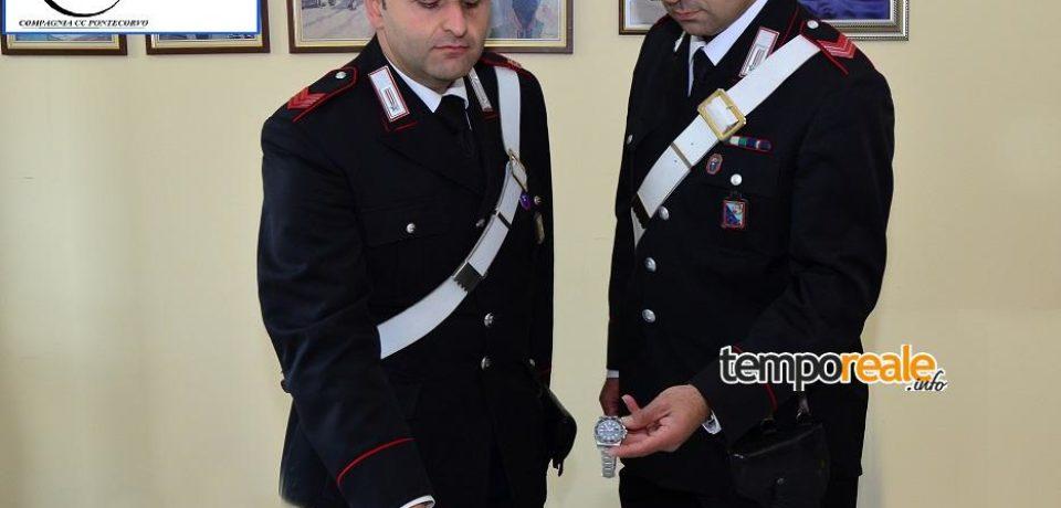 Rapina a Piedimonte San Germano, tre arresti ed alcuni orologi Rolex recuperati