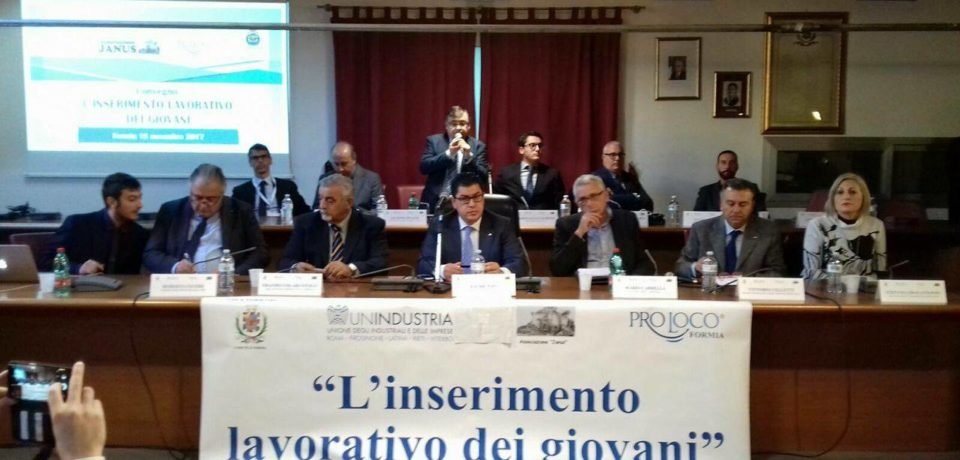 """Formia / Il Convegno su """"L'inserimento lavorativo dei giovani"""""""
