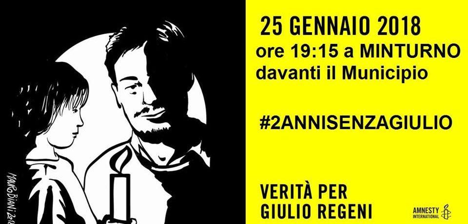 """Minturno / """"2 Anni senza Giulio"""": Sit-in in Piazza Portanova per Giulio Regeni"""