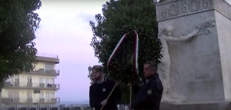 Formia / Giorno del Ricordo, cerimonia davanti al Monumento ai Caduti in Piazza Vittoria (video)