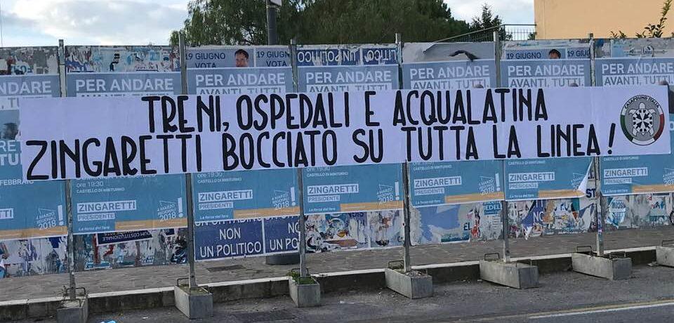 Minturno / Arriva Zingaretti, la contestazione di CasaPound