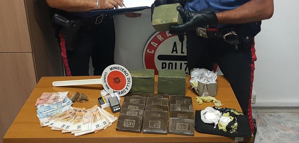 Formia / Arrestato 21enne per detenzione ai fini di spaccio di sostanze stupefacenti