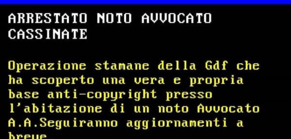 Cassino / Arrestato noto avvocato… ma è una fake news