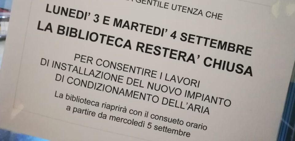 Formia / Biblioteca, il Comune decide di riparare i condizionatori