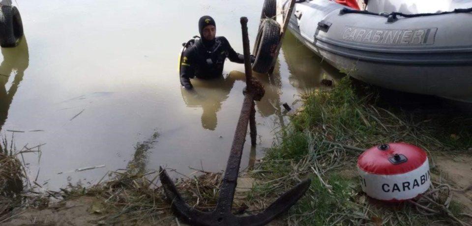 Rinvenuti reperti storici dal Nucleo Carabinieri Subacquei nel fiume Garigliano