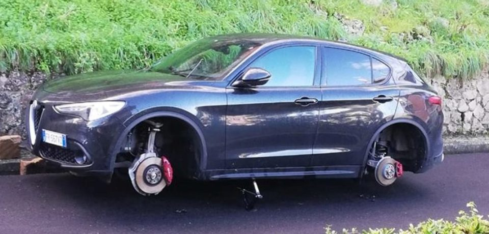 Gaeta / Pneumatici rubati e danneggiamenti alle auto: è allarme