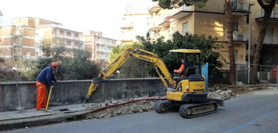 Gaeta / Via Madonnella, iniziati i lavori di restyling