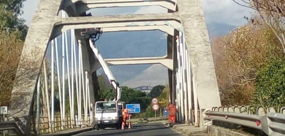 Minturno / Lavori in corso al ponte sul fiume Garigliano