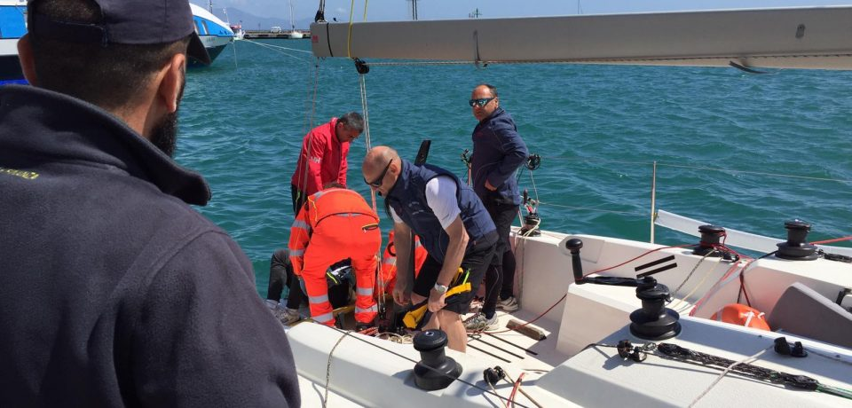 Formia / Incidente sulla barca, trauma cranico per un 58enne