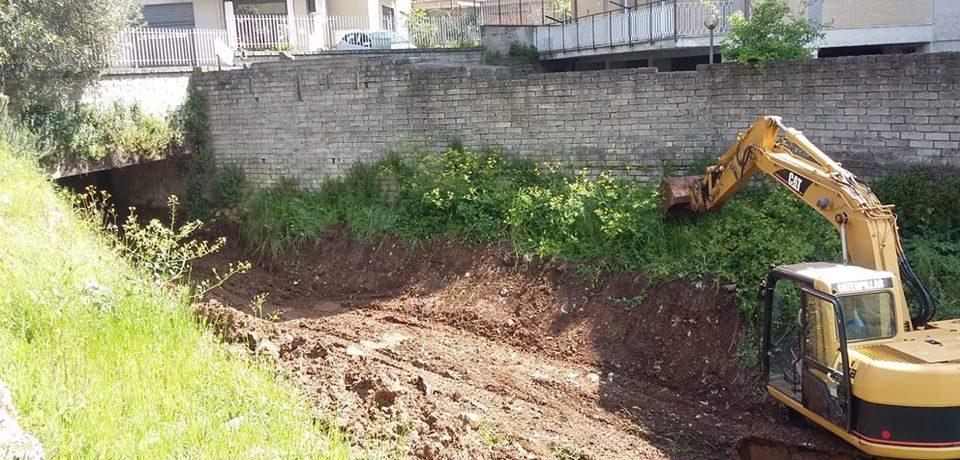 Itri / Iniziati i lavori di pulizia dei fossati