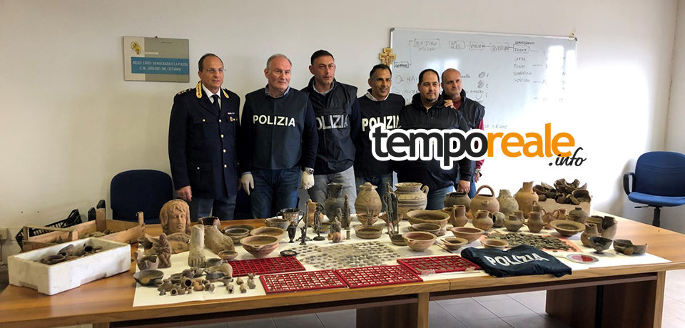 Minturno / La Polizia sequestra un tesoro archeologico in un'abitazione [VIDEO]