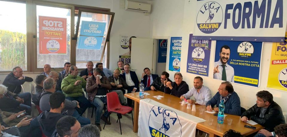 """Formia con te e Lega insieme: """"Siamo l'alternativa all'amministrazione Villa"""""""