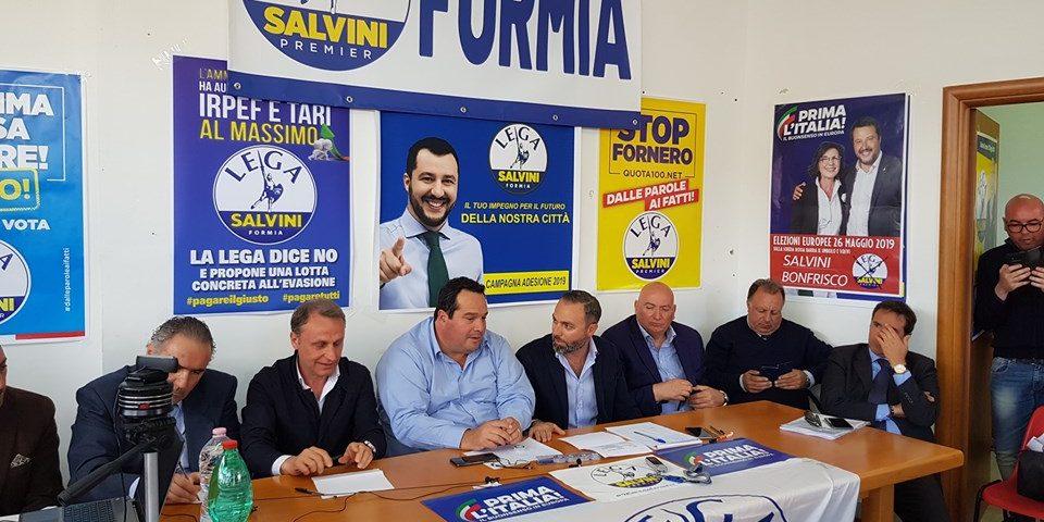 """Formia / La Lega al completo per Durigon, che annuncia: """"Sicurezza sulla Pontina, presto i lavori"""""""
