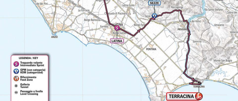 Giro d'Italia, le tappe nella provincia di Latina e la mappa dei percorsi alternativi