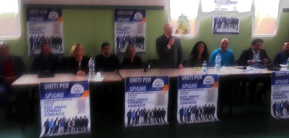 Elezioni a Spigno Saturnia: presentazione della candidatura di Sergio Corelli [VIDEO]