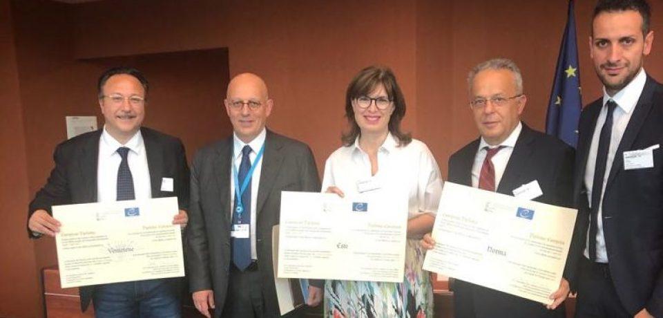 Ventotene insignita del Diploma d'Europa