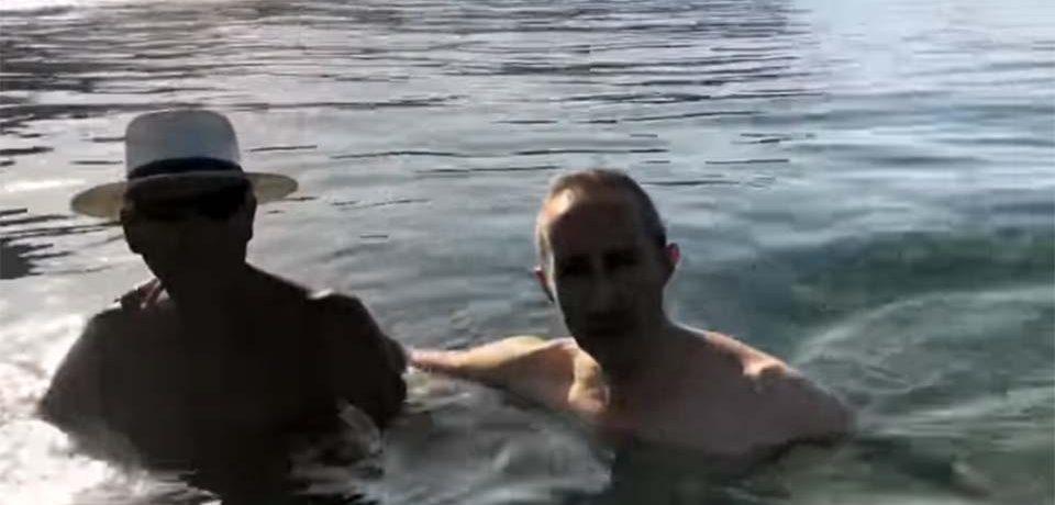 Sperlonga / Caso inquinamento Legambiente, Cusani beve l'acqua e si immerge in mare