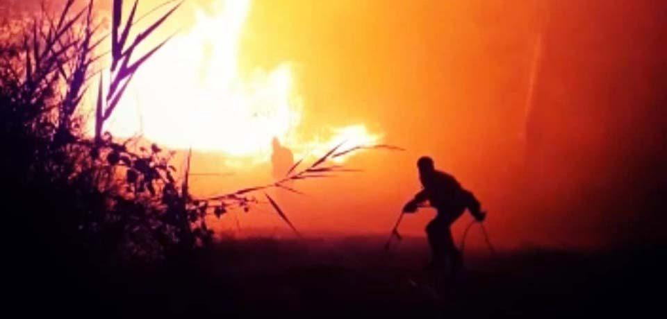 Spigno Saturnia / Incendio, evacuate diverse abitazioni: è caccia al piromane [VIDEO]